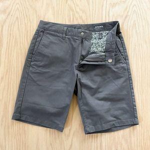 "BONOBOS Washed Chino Shorts Gray Sz 29 9"" Inseam"